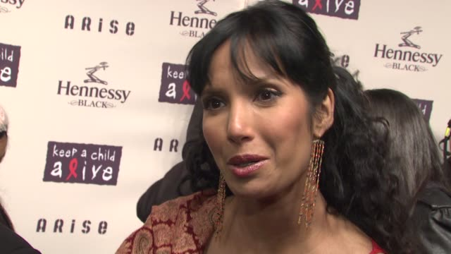 padma lakshmi on what makes this cause important to her, how the event has changed and grown over the years and what advice she has for people who... - パドマ ラクシュミ点の映像素材/bロール
