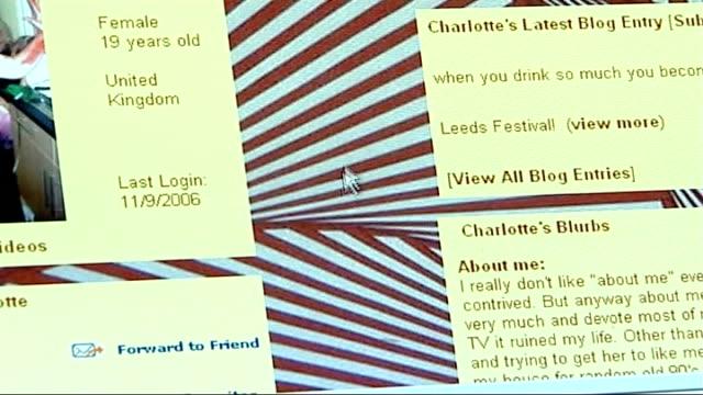 vídeos y material grabado en eventos de stock de paedophile adrian ringland jailed for ten years for blackmail close up of computer screen displaying blogging website computer screen displaying... - reportaje imágenes