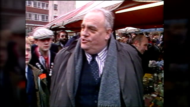 paedophile claims against cyril smith to be investigated lib ormskirk ext cyril smith campaigning in market place - pedophilia stock videos and b-roll footage