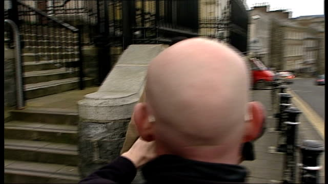 paedophile priest jailed in northern ireland exact date unknown 2012 county down downpatrick courthouse ext daniel curran leaving court and along... - northern ireland stock videos & royalty-free footage