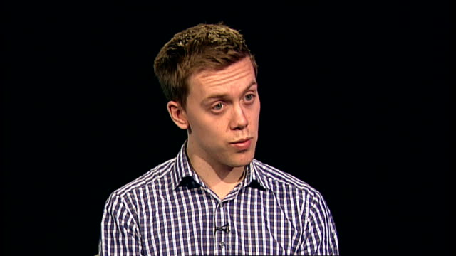 the past on trial inquiry or witch hunt england london int owen jones interview sot - pedofili video stock e b–roll