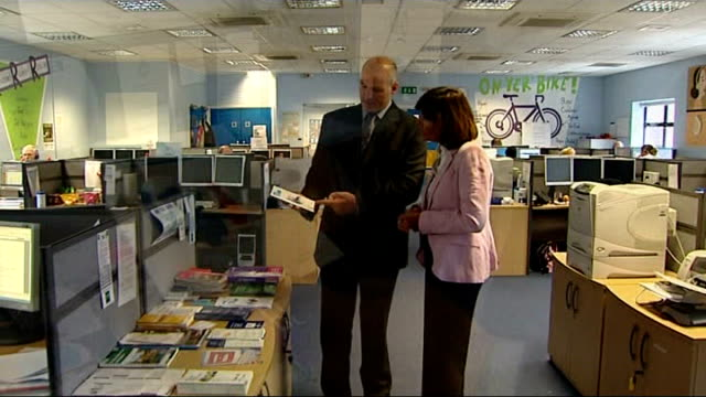 New Home Office pilot scheme allows parents to access police infomation on sex offenders Cambridgeshire Peterborough INT Reporter talking to...