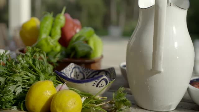 paella ingredients - jug stock videos & royalty-free footage