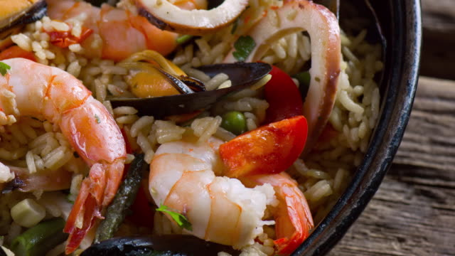paella - prawn animal stock videos and b-roll footage
