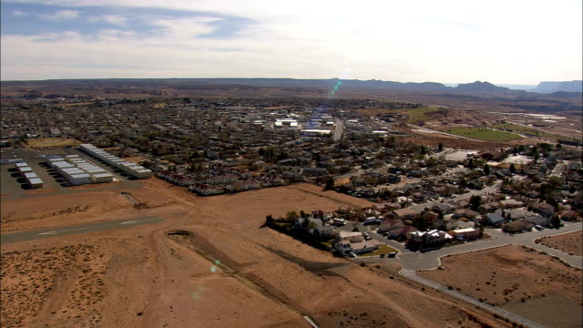 page - aerial view - arizona,  coconino county,  united states - page arizona stock videos and b-roll footage