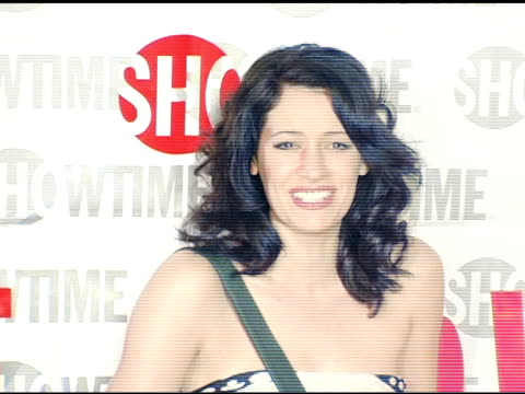 paget brewster of 'huff' at the star-studded tca press tour party hosted by showtime at universal studios in universal city, california on january... - showtime video stock e b–roll
