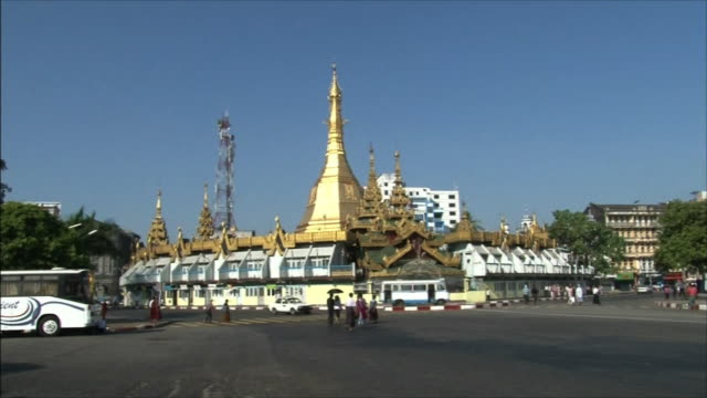 pagoda and street. - temple building stock videos & royalty-free footage