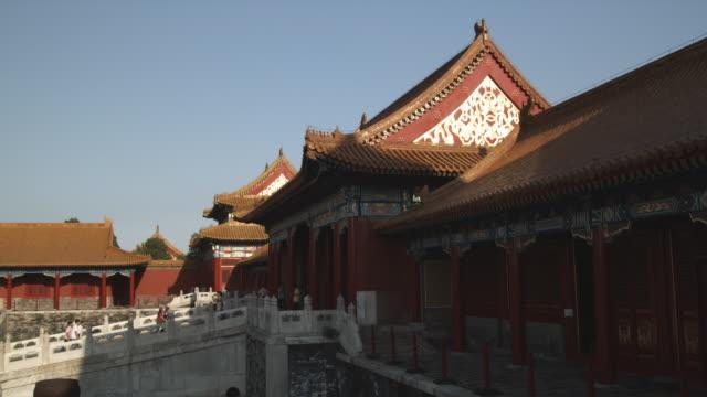 ws pagoda in forbidden city / beijing, china - besichtigung stock-videos und b-roll-filmmaterial