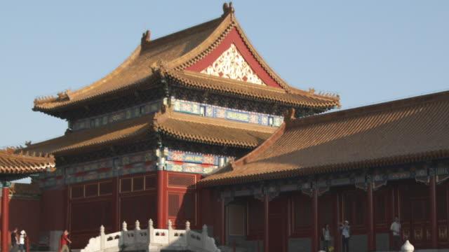 ms pagoda in forbidden city / beijing, china - besichtigung stock-videos und b-roll-filmmaterial