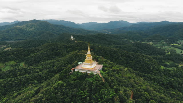 pagoda on the mountain chiang rai province - chiang mai province stock videos & royalty-free footage