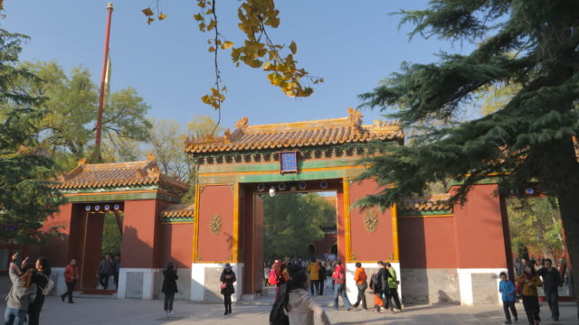 ws paifang gate, yonghe temple, beijing, china - {{ contactusnotification.cta }} stock videos & royalty-free footage