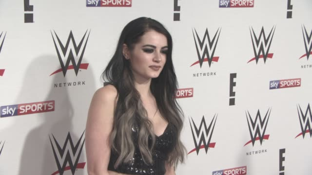 Paige at WWE RAW Pre Show Party on April 18 2016 in London England
