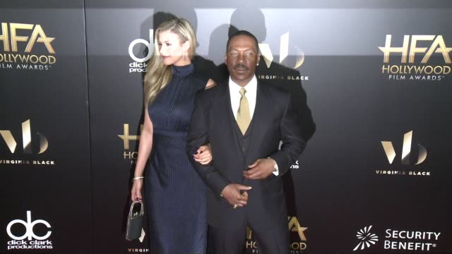 paige butcher and eddie murphy at 20th annual hollywood film awards at the beverly hilton hotel on november 06 2016 in beverly hills california - eddie murphy stock videos & royalty-free footage