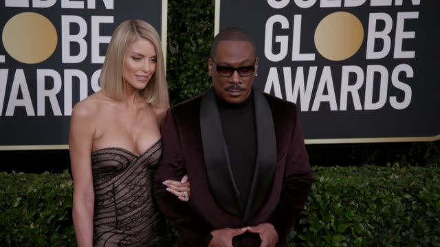 paige butcher and eddie murphy at 77th annual golden globe awards at the beverly hilton hotel on january 05 2020 in beverly hills california - eddie murphy stock videos & royalty-free footage