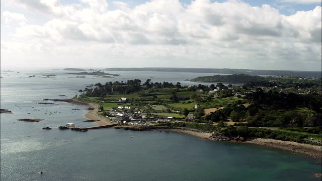 Paimpol  - Aerial View - Brittany,  Côtes-d'Armor,  Arrondissement de Saint-Brieuc helicopter filming,  aerial video,  cineflex,  establishing shot,  France