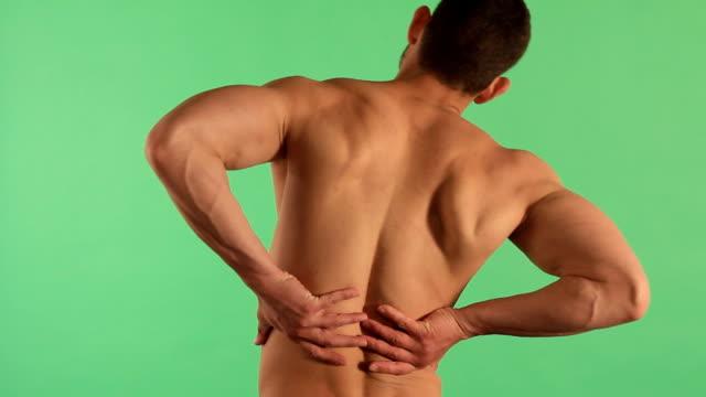 の痛み - 人の背中点の映像素材/bロール
