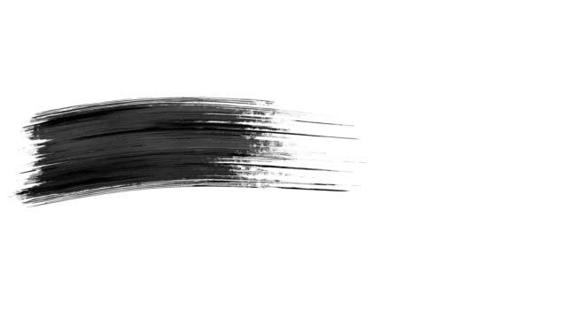 アルファチャンネルを使用した4kペイントブラシストロークトランジションアニメーション(透明度) - はけ筋点の映像素材/bロール