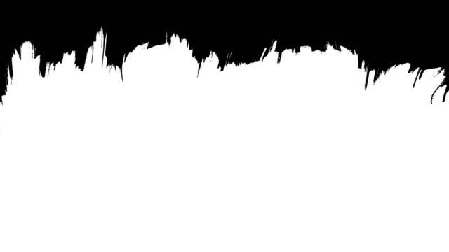 vídeos de stock, filmes e b-roll de pincel escova limpar transição ligado e desligado. transições foscas estilo tinta. você pode usá-los como luma matte, transições entre vídeo no modo de sobreposição. pincel de tinta strok. chave chroma, canal alfa (transparência) - acabamento mate