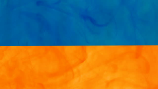 paint flag of ukraine - writing instrument stock videos & royalty-free footage