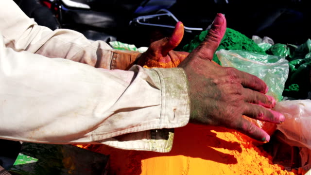 paint for holi festival in india - rajasthan stock videos and b-roll footage