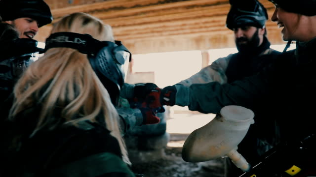 paintball crew - pursuit sports competition format stock videos and b-roll footage
