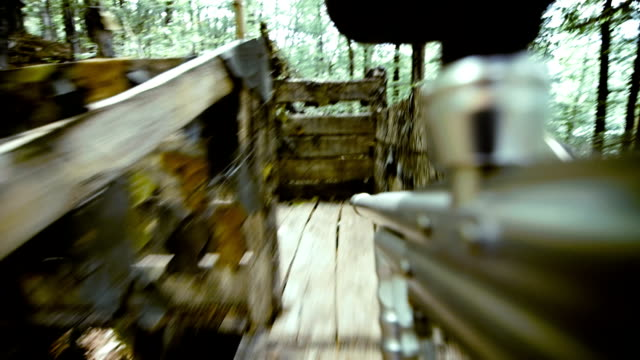 paintball player occupying defensive position - pursuit sports competition format stock videos and b-roll footage