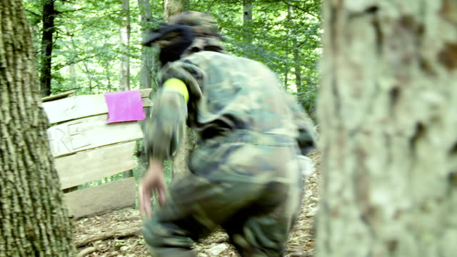 Paintball Player Stealing The Flag