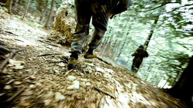 Paintball Players Running