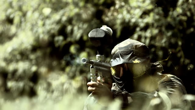 Paintball Shooting (Super Slow Motion)