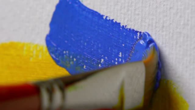 paintbrush, close-up - painter artist stock videos and b-roll footage