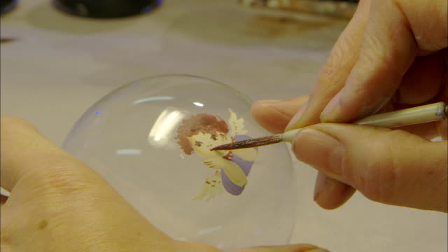painted christmas tree ball - figurine stock videos & royalty-free footage