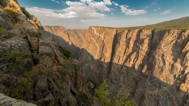 painted rocks at black canyon of gunnison outside of montrose, colorado - gunnison stock videos & royalty-free footage