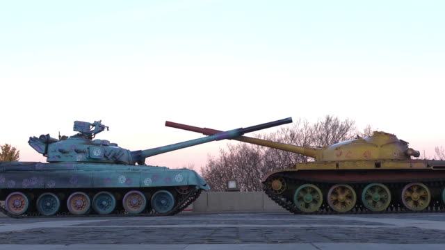 ms painted tanks - monument stock videos & royalty-free footage
