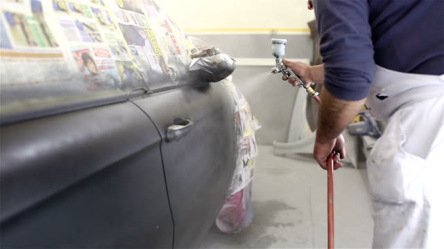 painting a car - airbrush stock videos & royalty-free footage