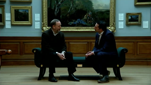 dulwich picture gallery 'fake' exhibition; england: london: dulwich picture gallery: nicholas eastaugh interview sot - dulwich stock videos & royalty-free footage