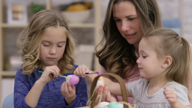 Painting Eggs with Mom