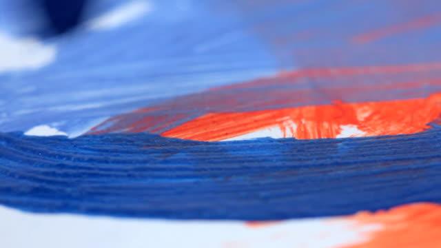 stockvideo's en b-roll-footage met painting, macro - verfkwast