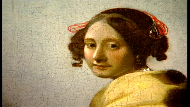 stockvideo's en b-roll-footage met picture restorer discovers 'hidden' rembrandt netherlands s bach goldberg variations cms side martin bijl working on restoration of painting in his... - canvas