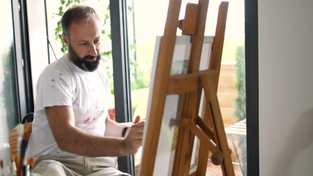 painting through soul - canvas stock videos & royalty-free footage