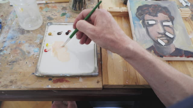 Painting using acrylic.