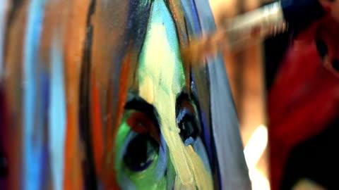 painting - konst bildbanksvideor och videomaterial från bakom kulisserna