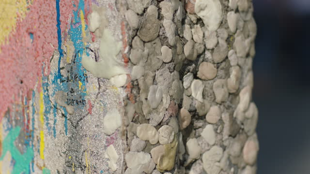 paintings and chewing gums on the berlin wall / berlin, germany - scribble stock videos & royalty-free footage
