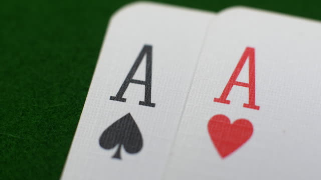 pair of aces at cards - pair stock videos & royalty-free footage