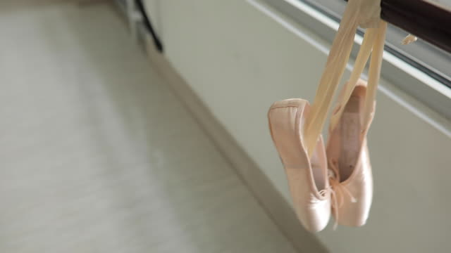 pair of ballet pumps - ballet shoe stock videos and b-roll footage