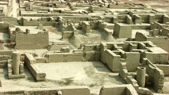 pakistan : archeological site in mohenjo-daro - sindh pakistan stock videos and b-roll footage