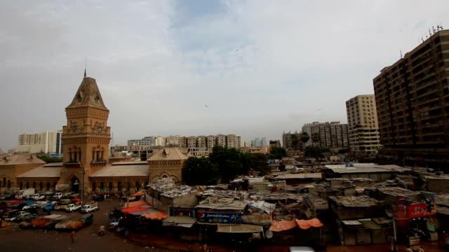 pakistan: empress market in karachi - karachi stock videos & royalty-free footage
