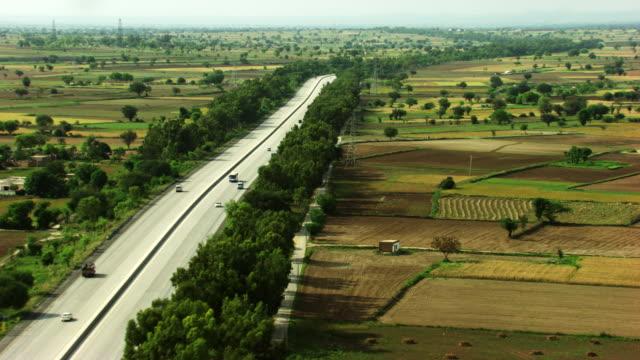 pakistan : fields in rural area - pakistan stock videos and b-roll footage