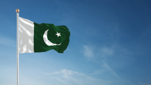 4k pakistan flag - loopable - independence stock videos & royalty-free footage