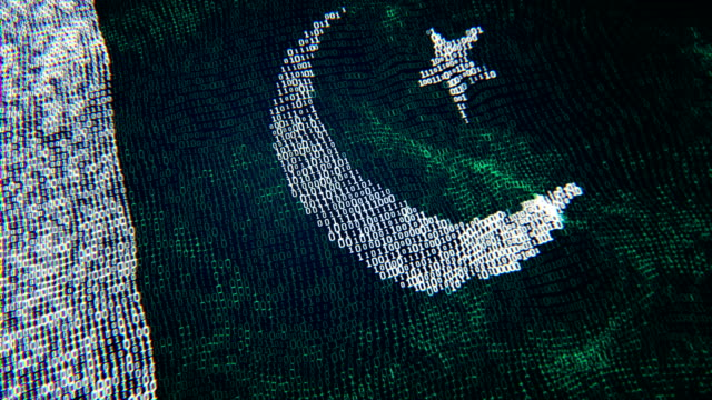 pakistan flag particle digital flag loopable 4k - pakistan stock videos & royalty-free footage