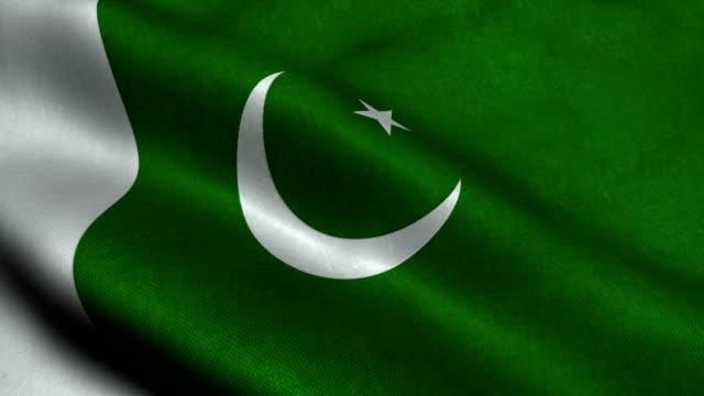 vídeos y material grabado en eventos de stock de bandera de pakistán - pakistán